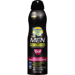 Banana Boat For Men Triple Defense Spray Fsp 50+ -220ml