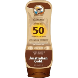 Australian Gold Sunscreen Infused With Kona Coffee With Instant Bronzer Spf 50 Lotion - 237ml