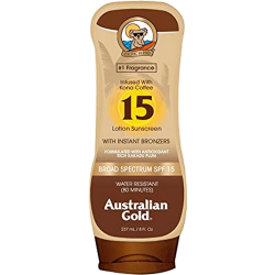 Australian Gold Infused With Kona Coffee Sunscreen With Instant Bronzer Spf 15 - Lotion 237ml