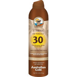 Australian Gold Continuous Sunscreen with Instant Bronzer Spf 30 Spray - 177ml