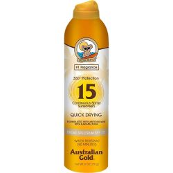 Australian Gold Continuous Sunscreen Quick Drying SPF 15 Spray - 177ml